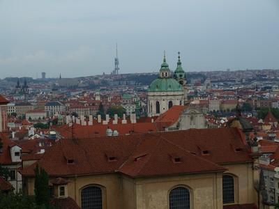 Prague vue du belvédère du château