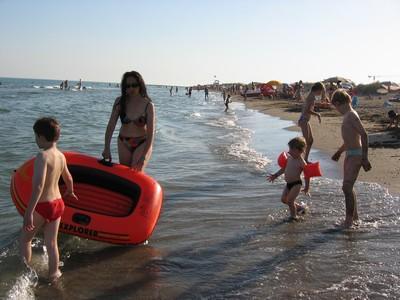 La plage dans la baie de Venise