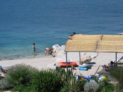 Vue de notre 2° appartement (près de Trogir)
