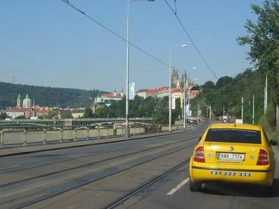 Sur le périph' de Prague