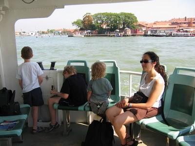 Arrivée sur Venise en bateau depuis Cavallino-Treporti