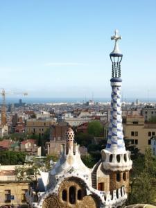 Barcelone, vue du parc Grüell