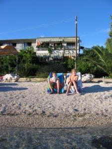 Notre appartement vu de la plage